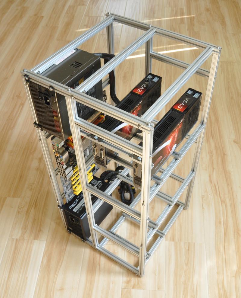 Custom PC case frame